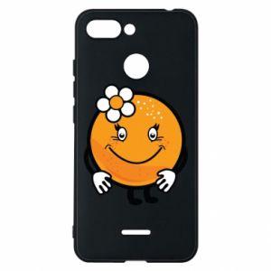 Phone case for Xiaomi Redmi 6 Orange, for girls - PrintSalon