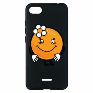 Phone case for Xiaomi Redmi 6A Orange, for girls - PrintSalon