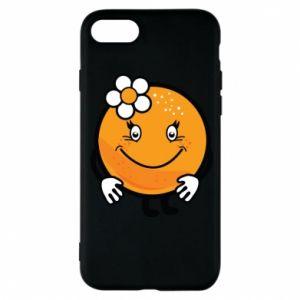 Phone case for iPhone 7 Orange, for girls - PrintSalon