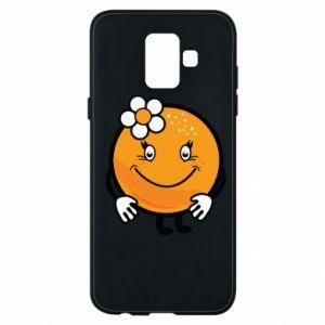 Phone case for Samsung A6 2018 Orange, for girls - PrintSalon