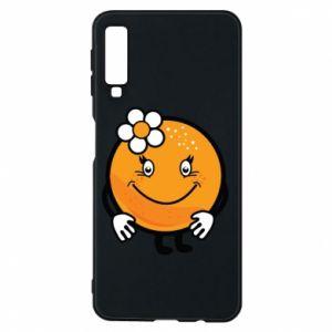 Phone case for Samsung A7 2018 Orange, for girls - PrintSalon