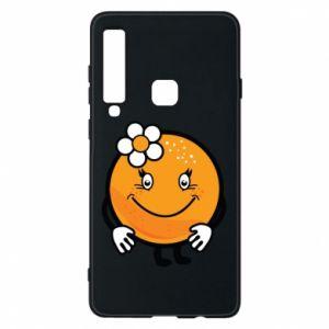 Phone case for Samsung A9 2018 Orange, for girls - PrintSalon
