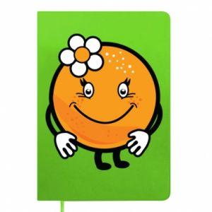 Notepad Orange, for girls - PrintSalon