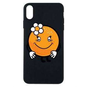 Phone case for iPhone Xs Max Orange, for girls - PrintSalon