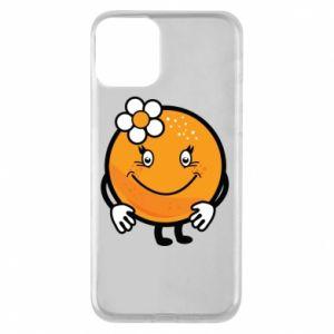 Phone case for iPhone 11 Orange, for girls - PrintSalon