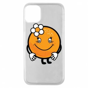 Phone case for iPhone 11 Pro Orange, for girls - PrintSalon