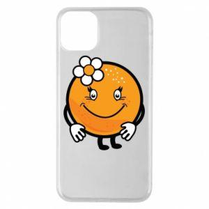 Phone case for iPhone 11 Pro Max Orange, for girls - PrintSalon