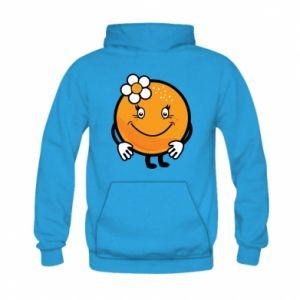 Bluza z kapturem dziecięca Pomarańcza, dla dziewczynki