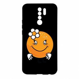 Etui na Xiaomi Redmi 9 Pomarańcza, dla dziewczynki