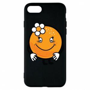 Phone case for iPhone 8 Orange, for girls - PrintSalon