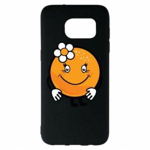 Etui na Samsung S7 EDGE Pomarańcza, dla dziewczynki