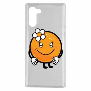 Etui na Samsung Note 10 Pomarańcza, dla dziewczynki