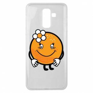 Etui na Samsung J8 2018 Pomarańcza, dla dziewczynki