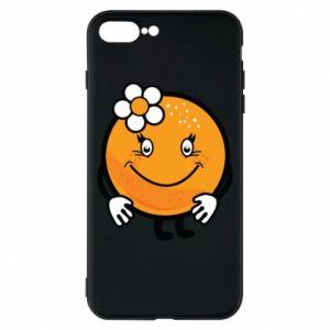 Phone case for iPhone 8 Plus Orange, for girls - PrintSalon