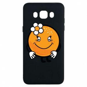 Etui na Samsung J7 2016 Pomarańcza, dla dziewczynki