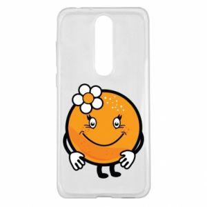 Etui na Nokia 5.1 Plus Pomarańcza, dla dziewczynki