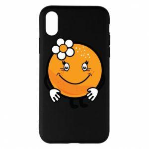 Phone case for iPhone X/Xs Orange, for girls - PrintSalon