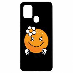 Etui na Samsung A21s Pomarańcza, dla dziewczynki