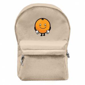Backpack with front pocket Orange - PrintSalon