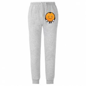 Męskie spodnie lekkie Orange - PrintSalon