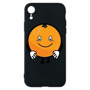 Etui na iPhone XR Pomarańcza