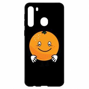 Etui na Samsung A21 Pomarańcza