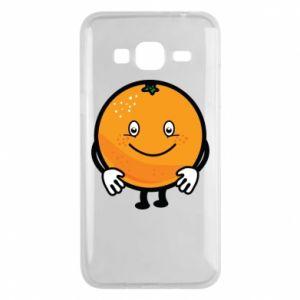 Etui na Samsung J3 2016 Pomarańcza