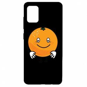 Etui na Samsung A51 Pomarańcza