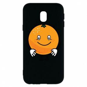 Etui na Samsung J3 2017 Pomarańcza