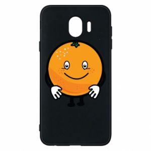 Etui na Samsung J4 Pomarańcza