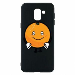 Etui na Samsung J6 Pomarańcza