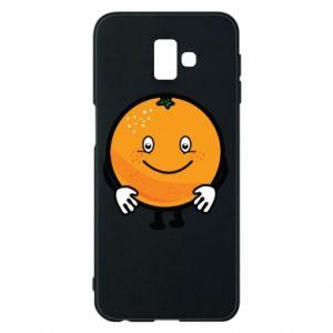 Etui na Samsung J6 Plus 2018 Pomarańcza
