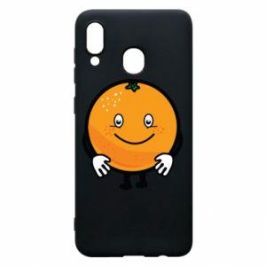 Etui na Samsung A20 Pomarańcza
