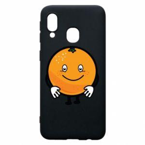 Etui na Samsung A40 Pomarańcza
