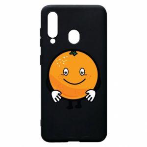 Etui na Samsung A60 Pomarańcza