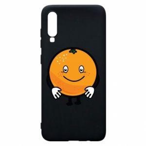 Etui na Samsung A70 Pomarańcza