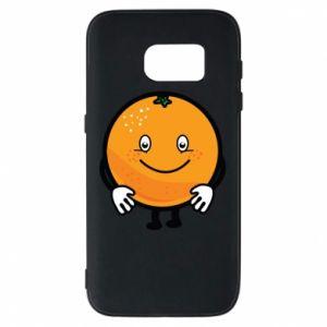Etui na Samsung S7 Pomarańcza