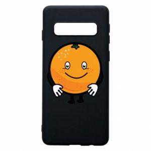 Etui na Samsung S10 Pomarańcza