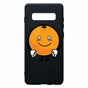 Etui na Samsung S10+ Pomarańcza