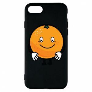 Etui na iPhone 7 Pomarańcza
