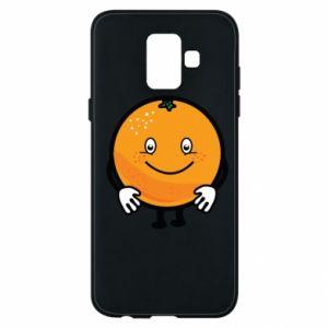 Etui na Samsung A6 2018 Pomarańcza