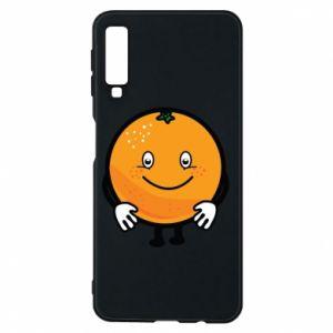 Etui na Samsung A7 2018 Pomarańcza