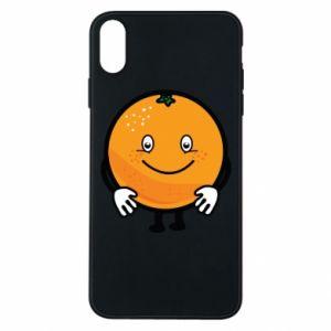 Etui na iPhone Xs Max Pomarańcza