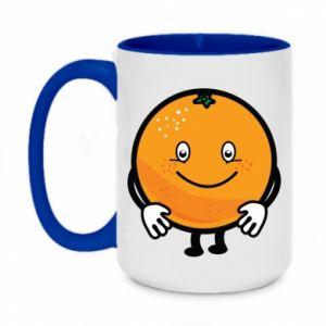 Kubek dwukolorowy 450ml Pomarańcza
