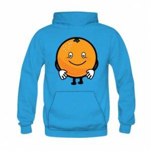 Bluza z kapturem dziecięca Pomarańcza
