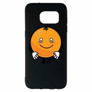 Etui na Samsung S7 EDGE Pomarańcza
