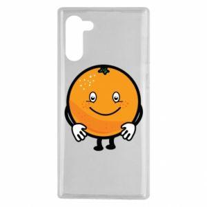 Etui na Samsung Note 10 Pomarańcza