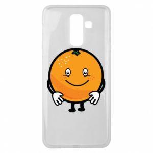 Etui na Samsung J8 2018 Pomarańcza