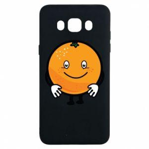 Etui na Samsung J7 2016 Pomarańcza