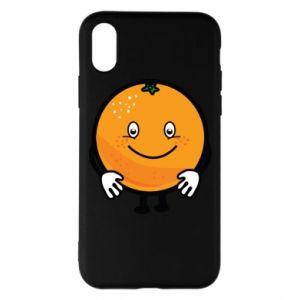Etui na iPhone X/Xs Pomarańcza